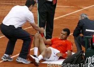 Tsonga blessé à Roland Garros