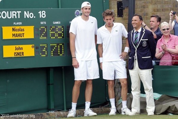 John Isner et Nicolas Mahut à Wimbledon