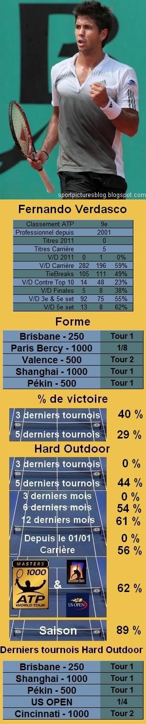 Statistiques tennis Fernando Verdasco