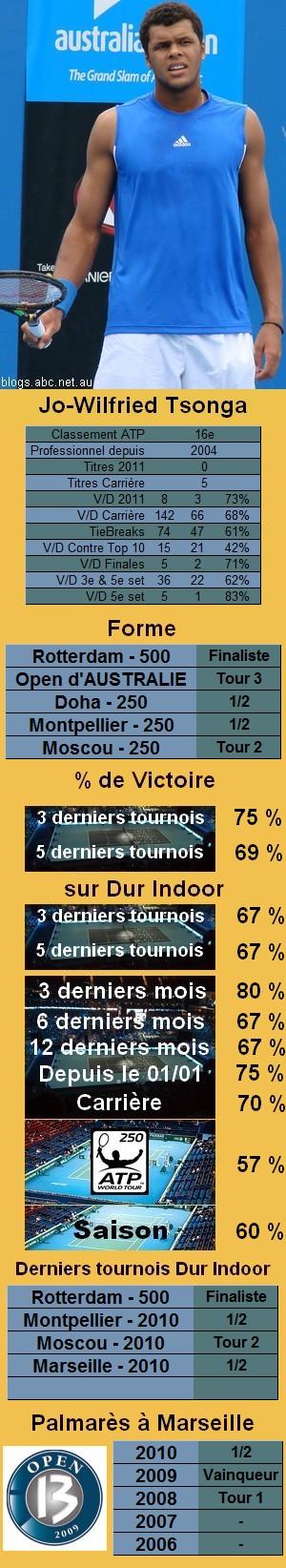 Statistiques tennis Jo Wilfried Tsonga