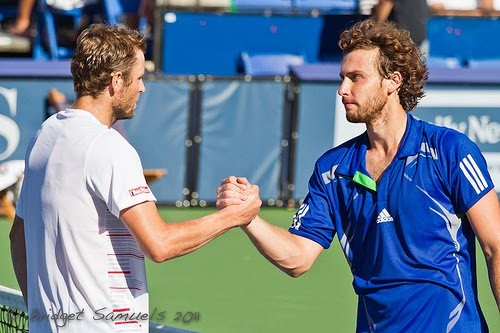 Mardy Fish et Ernests Gulbis