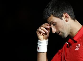 Novak Djokovic à Paris Bercy